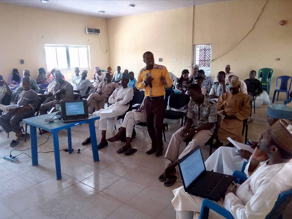 Another view of participants with Abdulganiyu Rufai facilitating