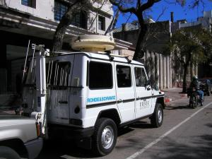 Figure 2: A special vehicle for spectrum monitoring in Montevideo, Uruguay