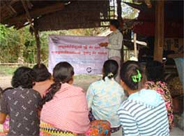 Rural Development Association mobile training in Cambodia
