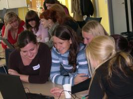 """Women into IT"" included IT career orientation for girls in secondary schools in the Czech Republic. Photo: Jana Pradlova"