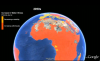 Climate change scenarios in GoogleEarth