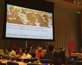 How will candidates advance internet rights at the Human Rights Council?