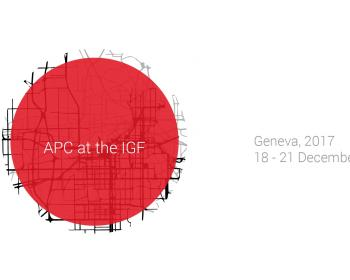 APC at the 2017 IGF: A schedule of events in which APC is participating