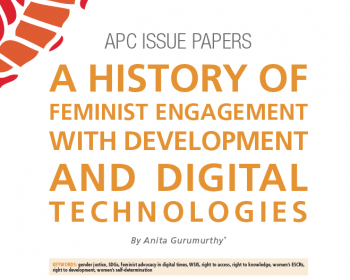 A history of feminist engagement with development and digital technologies