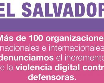 El Salvador: organizaciones preocupadas por incremento de violencia digital contra defensoras