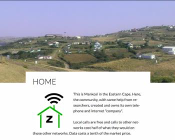 "Zenzeleni: redes de telecomunicaciones ""hágala usted mismo"" en Sudáfrica rural"