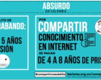 Desde Colombia: ¡Compartir no es delito!