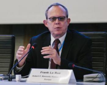 """Frank La Rue: """"Debemos institucionalizar el diálogo multisectorial"""""""