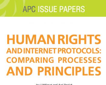 Derechos humanos y protocolos de internet: Comparación de protocolos y principios