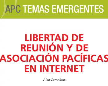 Libertad de reunión y de asociación pacíficas en internet