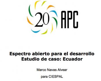 Espectro abierto para el desarrollo: estudio de caso de Ecuador