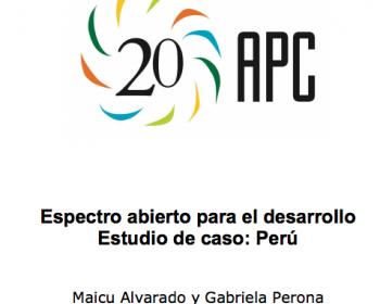 Espectro abierto para el desarrollo: estudio de caso de Perú