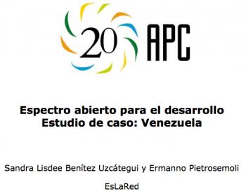 Espectro abierto para el desarrollo: estudio de caso de Venezuela