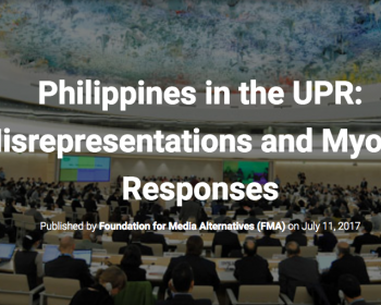 Philippines in the Universal Periodic Review: Misrepresentations and myopic responses