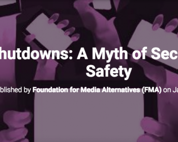 Foundation for Media Alternatives, Philippines: Internet shutdowns and the myth of security and public safety
