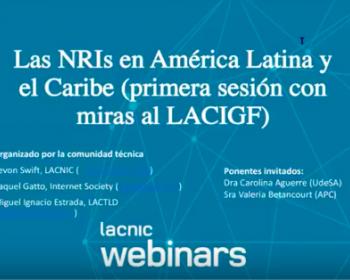 Webinar: iniciativas de gobernanza nacionales y regionales en América Latina y el Caribe