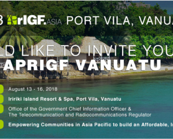 APC at the AsiaPacific Regional Internet Governance Forum 2018 in Vanuatu