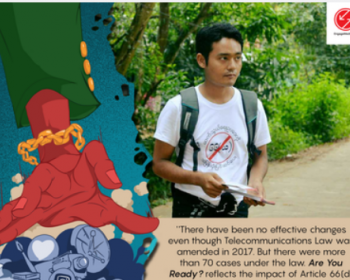 """""""Are You Ready?"""": New film explores how Myanmar's Article 66(D) affects freedom of expression"""