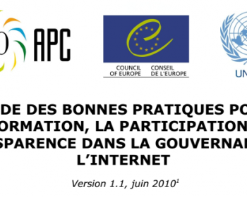 Code des bonnes pratiques pour l'information, la participation et la transparence dans la gouvernance de l'internet