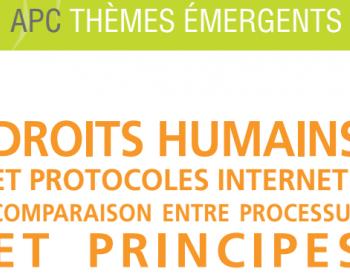 Droits humains et protocoles internet : comparaison entre processus et principes