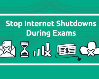 "#NoExamShutdown: 4 MENA countries shut down the internet so far ""to fight cheating""!"