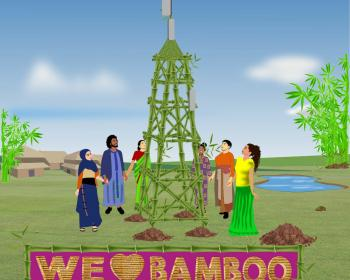 Low-cost, community-based communications network towers: One of many reasons to love bamboo