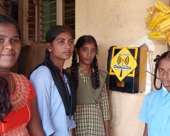 Enabling community participation of young girls and women: Janastu community mesh radio network