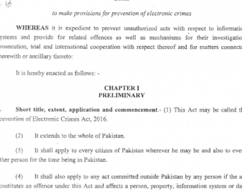 Prevention of Electronic Crimes Bill 2016, yet another story of deception from democracy