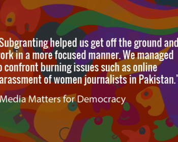 Seeding Change: Media Matters for Democracy on media building and fighting harassment of women journalists in Pakistan