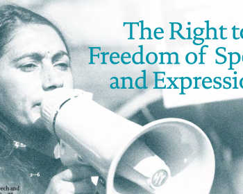 Arrow for Change: The right to freedom of speech and expression