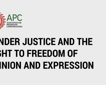 Gender justice and the right to freedom of opinion and expression