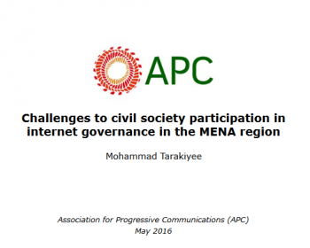 Challenges to civil society participation in internet governance in the MENA region