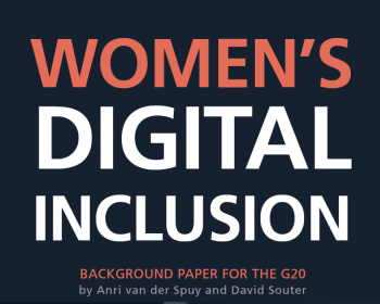 Women's digital inclusion: Background paper for the G20