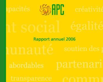Rapport annuel d'APC de 2006