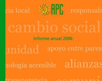 Informe anual de APC 2006