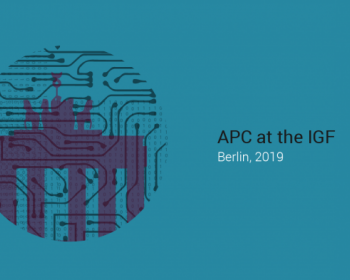 APC at the IGF 2019: Schedule of events
