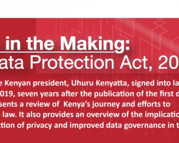 New law holds promise for improved data governance in Kenya