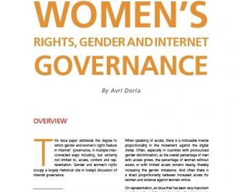 Women's rights, gender and Internet governance