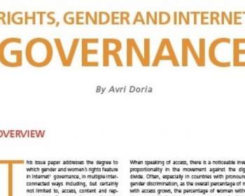 Derechos de las mujeres, género y gobernanza de Internet