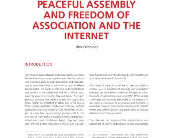 Le droit de réunion pacifique, la liberté d'association et l'internet