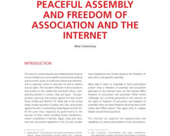 Freedom of peaceful assembly and freedom of association and the internet