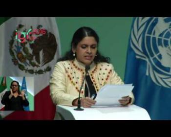 Anita Gurumurthy at the Internet Governance Forum 2016 opening session