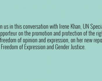 Conversación con Irene Khan sobre libertad de expresión y justicia de género