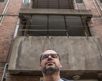 Iranian blogger Hossein Derakhsan in Teheran, 2015