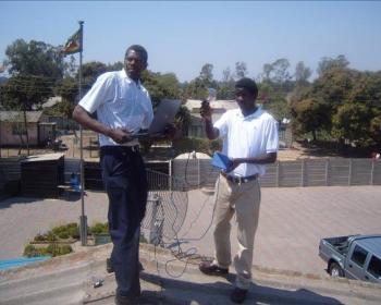 ConnectAfrica - Kwayedza Secondary School wifi project - Installing Equipment