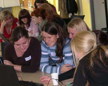 """""""Women into IT"""" included IT career orientation for girls in secondary schools in the Czech Republic. Photo: Jana Pradlova"""