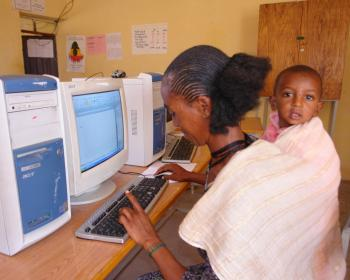 Rural Ethiopian woman has opportunities through technology