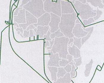 Submarine cables serving Africa in 2007 (APC)