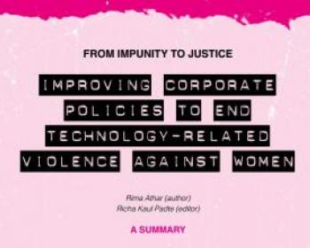 From impunity to justice: Improving corporate policies to end technology-related violence against women - Summary