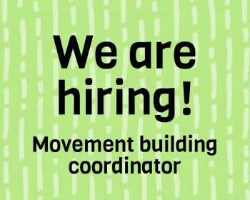 Job call: Movement building coordinator – Connecting the unconnected
